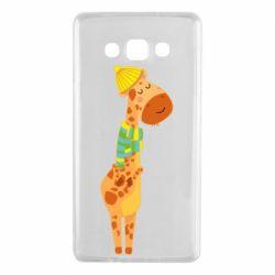 Чехол для Samsung A7 2015 Giraffe in a scarf