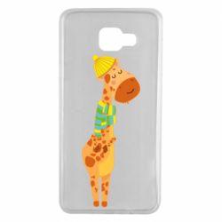 Чехол для Samsung A7 2016 Giraffe in a scarf