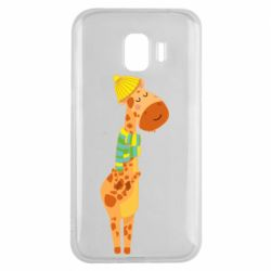 Чехол для Samsung J2 2018 Giraffe in a scarf