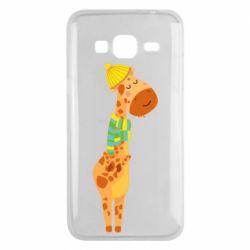 Чехол для Samsung J3 2016 Giraffe in a scarf