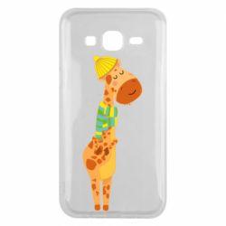 Чехол для Samsung J5 2015 Giraffe in a scarf