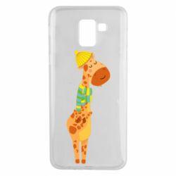 Чехол для Samsung J6 Giraffe in a scarf