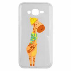 Чехол для Samsung J7 2015 Giraffe in a scarf