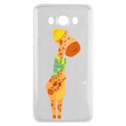Чехол для Samsung J7 2016 Giraffe in a scarf