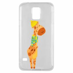 Чехол для Samsung S5 Giraffe in a scarf