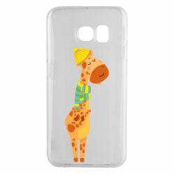 Чехол для Samsung S6 EDGE Giraffe in a scarf