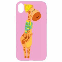 Чехол для iPhone XR Giraffe in a scarf