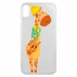 Чехол для iPhone Xs Max Giraffe in a scarf