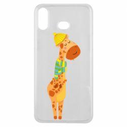 Чехол для Samsung A6s Giraffe in a scarf