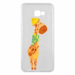 Чехол для Samsung J4 Plus 2018 Giraffe in a scarf