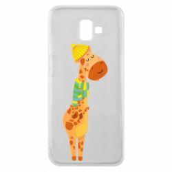 Чехол для Samsung J6 Plus 2018 Giraffe in a scarf