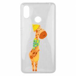 Чехол для Xiaomi Mi Max 3 Giraffe in a scarf