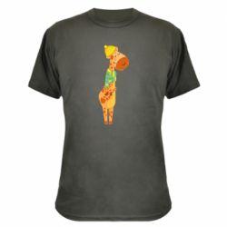 Камуфляжная футболка Giraffe in a scarf