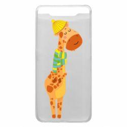 Чехол для Samsung A80 Giraffe in a scarf