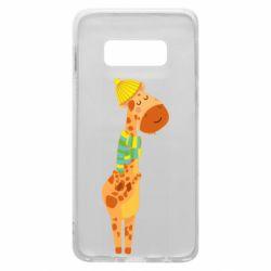 Чехол для Samsung S10e Giraffe in a scarf