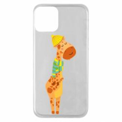 Чехол для iPhone 11 Giraffe in a scarf