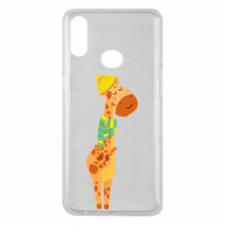 Чехол для Samsung A10s Giraffe in a scarf