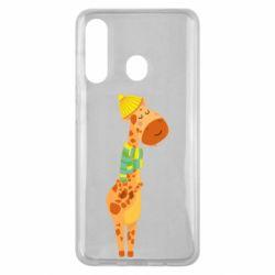 Чехол для Samsung M40 Giraffe in a scarf