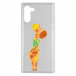 Чехол для Samsung Note 10 Giraffe in a scarf