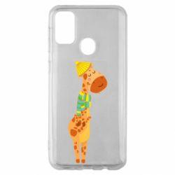 Чехол для Samsung M30s Giraffe in a scarf