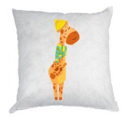 Подушка Giraffe in a scarf