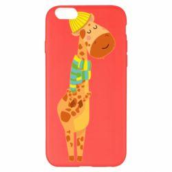 Чехол для iPhone 6 Plus/6S Plus Giraffe in a scarf