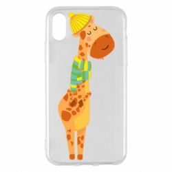 Чехол для iPhone X/Xs Giraffe in a scarf