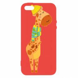 Чехол для iPhone5/5S/SE Giraffe in a scarf