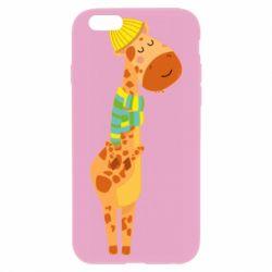 Чехол для iPhone 6/6S Giraffe in a scarf