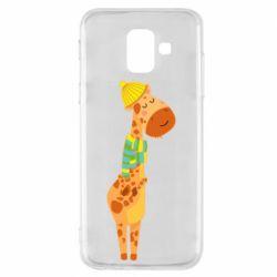Чехол для Samsung A6 2018 Giraffe in a scarf