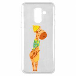 Чехол для Samsung A6+ 2018 Giraffe in a scarf