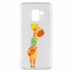 Чехол для Samsung A8 2018 Giraffe in a scarf