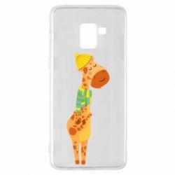 Чехол для Samsung A8+ 2018 Giraffe in a scarf