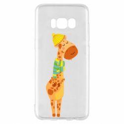 Чехол для Samsung S8 Giraffe in a scarf