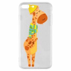 Чехол для iPhone 8 Plus Giraffe in a scarf