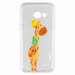 Чехол для Samsung A3 2017 Giraffe in a scarf