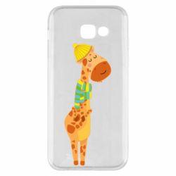 Чехол для Samsung A5 2017 Giraffe in a scarf