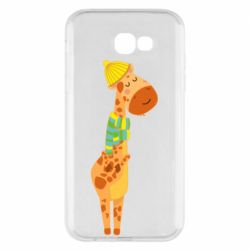 Чехол для Samsung A7 2017 Giraffe in a scarf