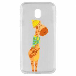 Чехол для Samsung J3 2017 Giraffe in a scarf