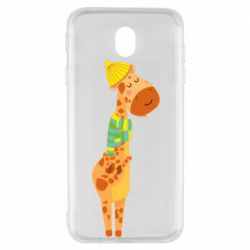Чехол для Samsung J7 2017 Giraffe in a scarf