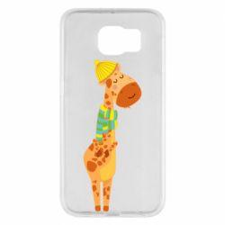 Чехол для Samsung S6 Giraffe in a scarf