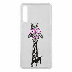 Чохол для Samsung A7 2018 Giraffe in pink glasses