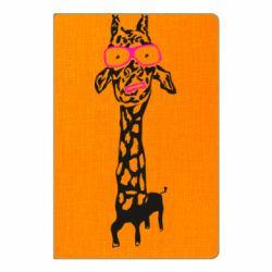 Блокнот А5 Giraffe in pink glasses