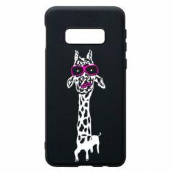 Чохол для Samsung S10e Giraffe in pink glasses