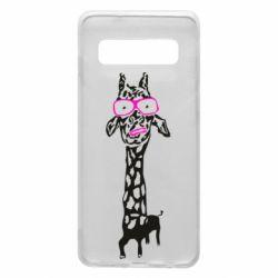 Чохол для Samsung S10 Giraffe in pink glasses