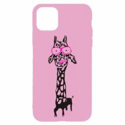 Чохол для iPhone 11 Giraffe in pink glasses