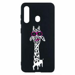Чохол для Samsung M40 Giraffe in pink glasses