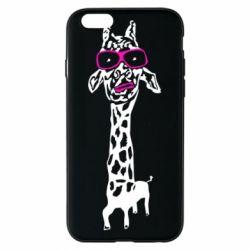 Чохол для iPhone 6/6S Giraffe in pink glasses