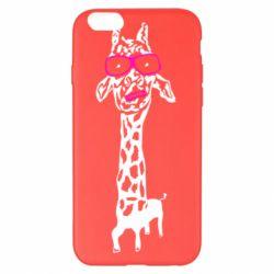 Чохол для iPhone 6 Plus/6S Plus Giraffe in pink glasses