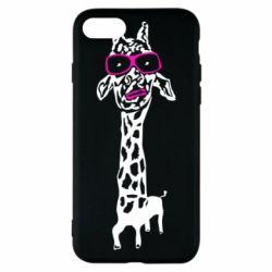 Чохол для iPhone 7 Giraffe in pink glasses